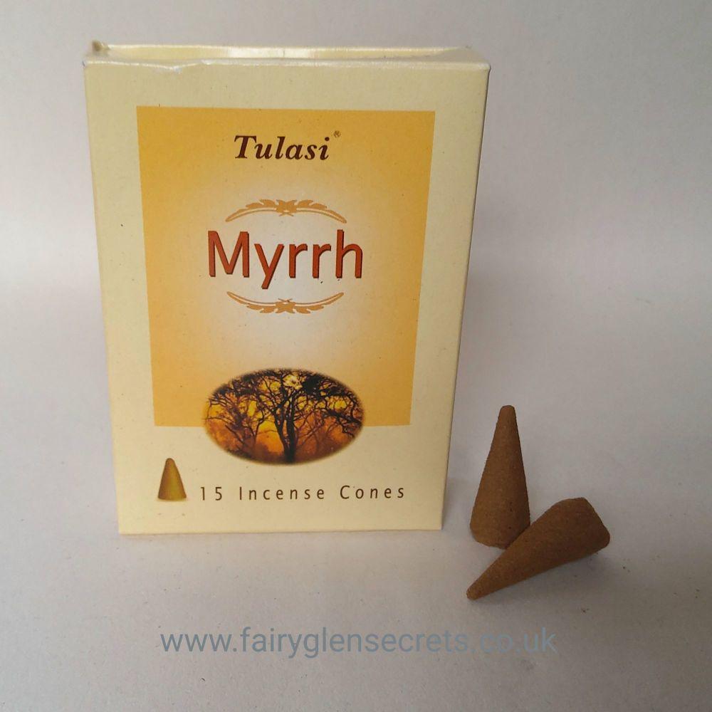 Tulasi Myrrh Incense Cones