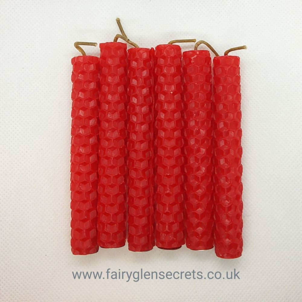 Beeswax Spell Candle - Red
