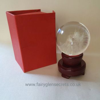 8cm Crystal Ball and Stand