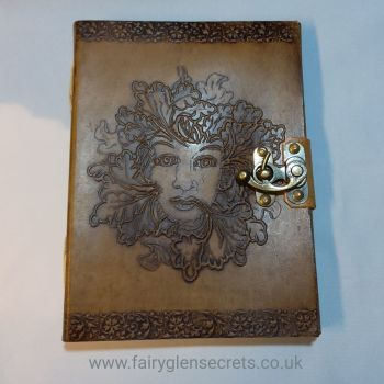 Leather Embossed lady of the forest Journal With Clasp