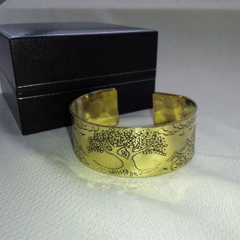Brass Tibetan Mantra Bracelet - Tree of Life