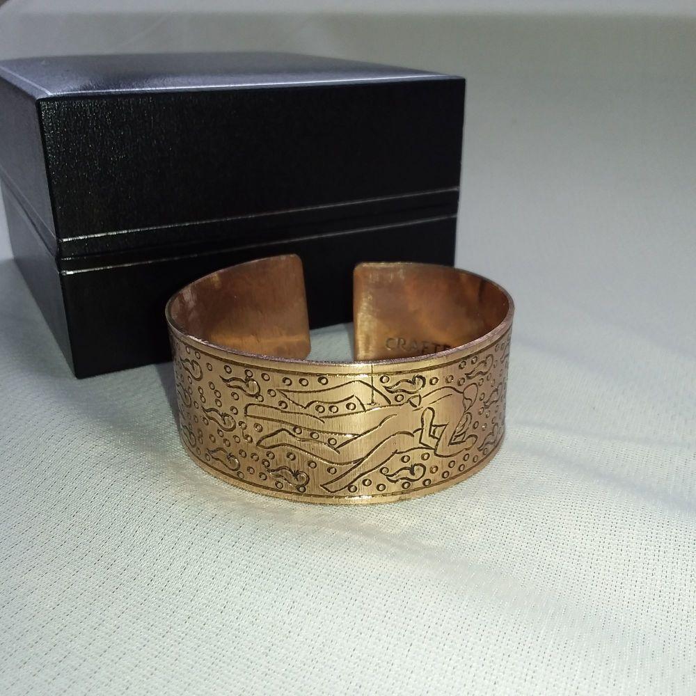 Copper Tibetan Bracelet - Kama sutra