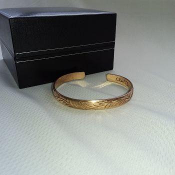 Copper Tibetan Bracelet - Slim Tribal Swirls