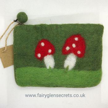 Mushroom Purse - Green