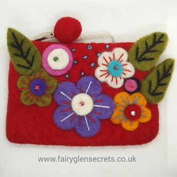 Flower purse - Red