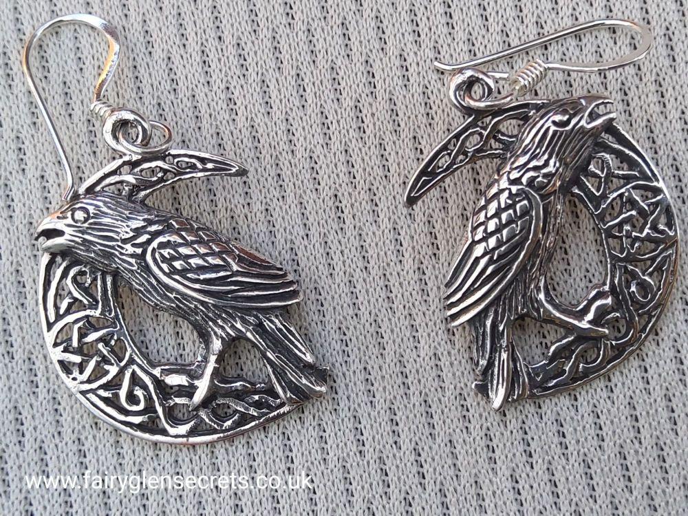 Raven On Celtic Moon