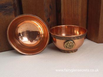 Brass Offering Bowl - Pentagram
