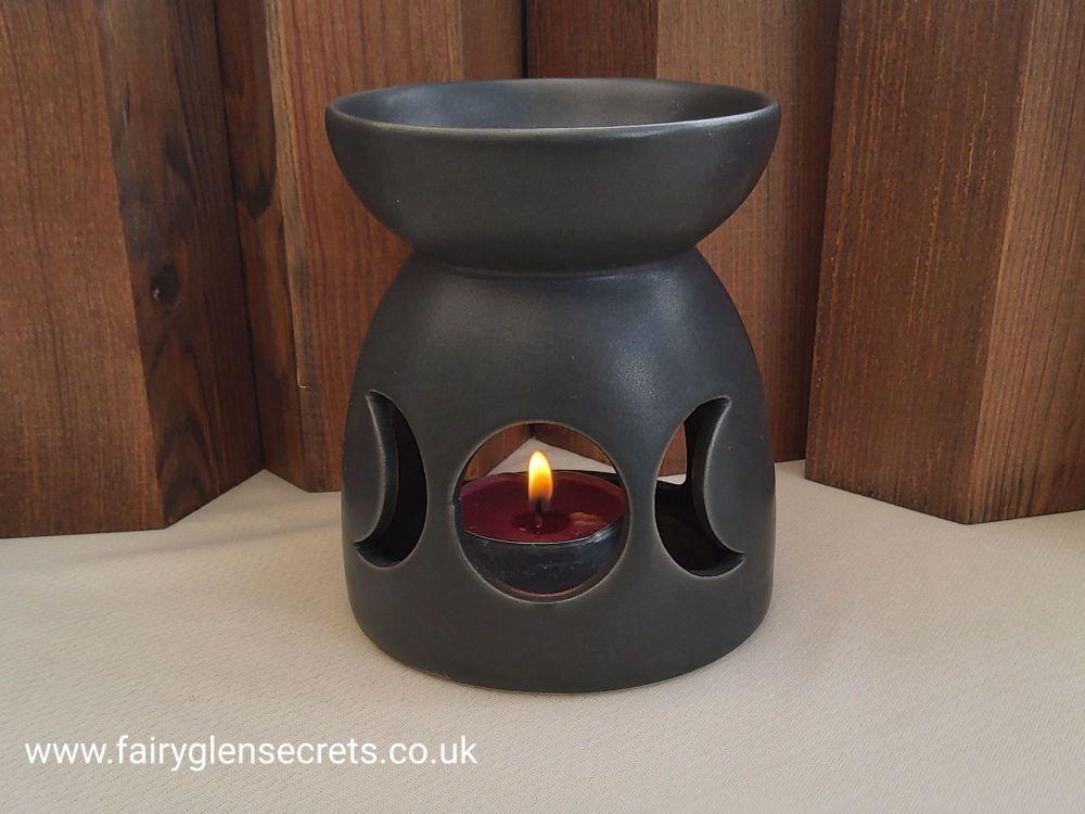 Triple moon oil burner