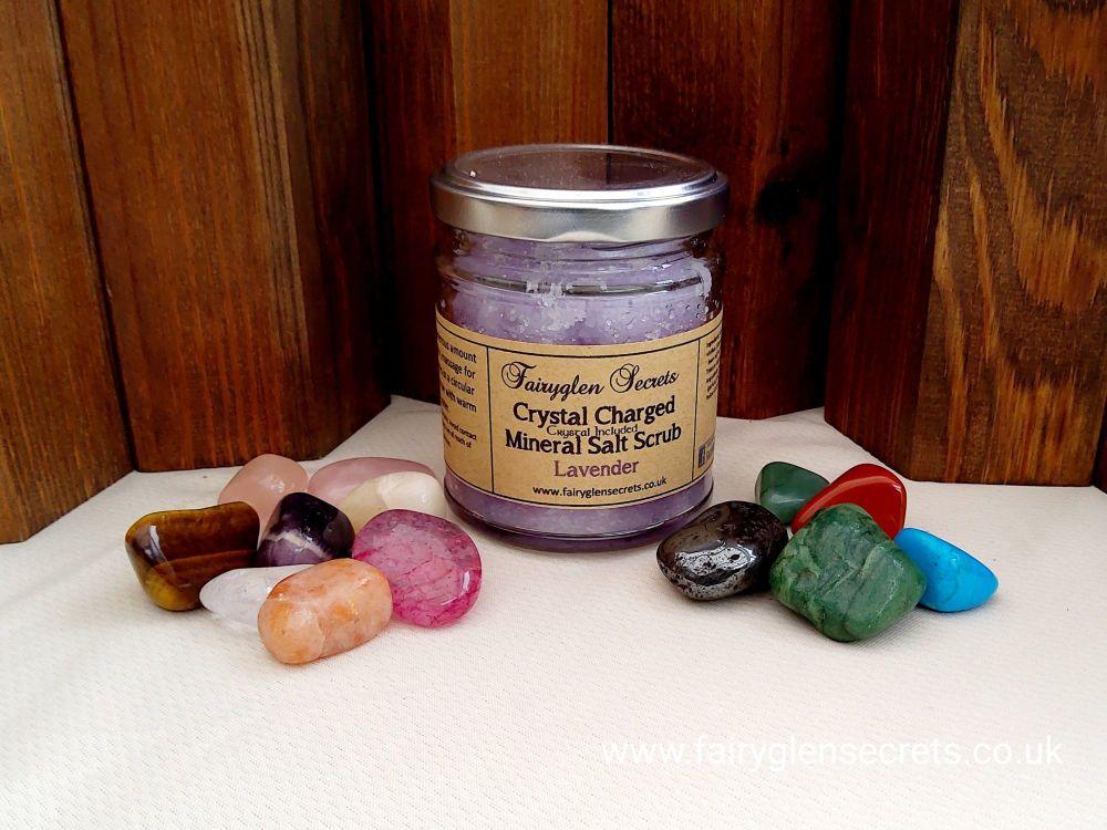 Crystal Charged Lavender Salt Scrub