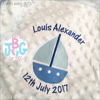 Bubble Boat Personalised Blanket