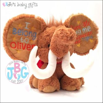 Woolly Mammoth Cubby Teddy Bear