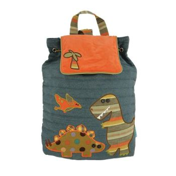 Personalised Orange Dinosaur Bag