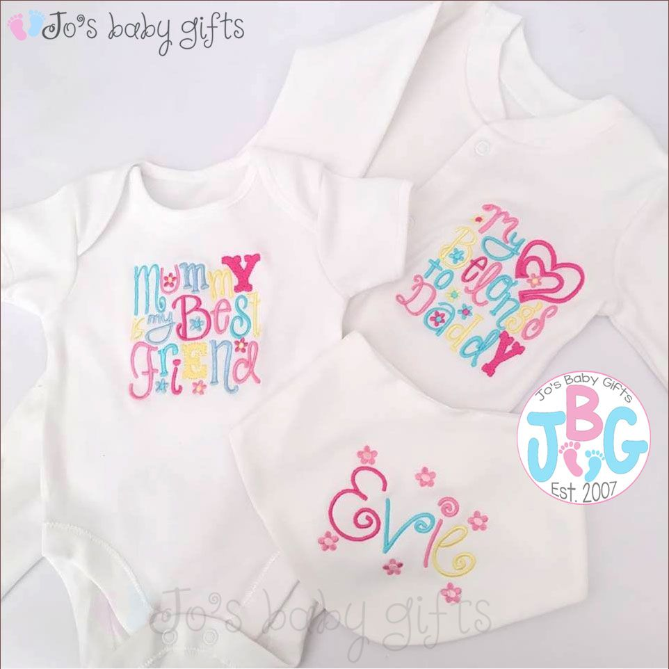 Personalised 3 peice clothes set