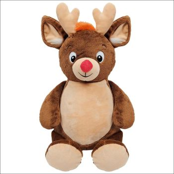 Personalised Brown Reindeer Cubby