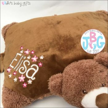 Mumbles Personalised Zippie Bear Cushion