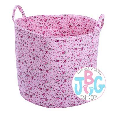 Pink Ditsy Floral Storage Bag