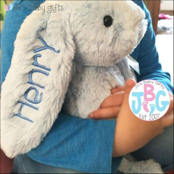 Jellycat Personalised Blue bunny Rabbit