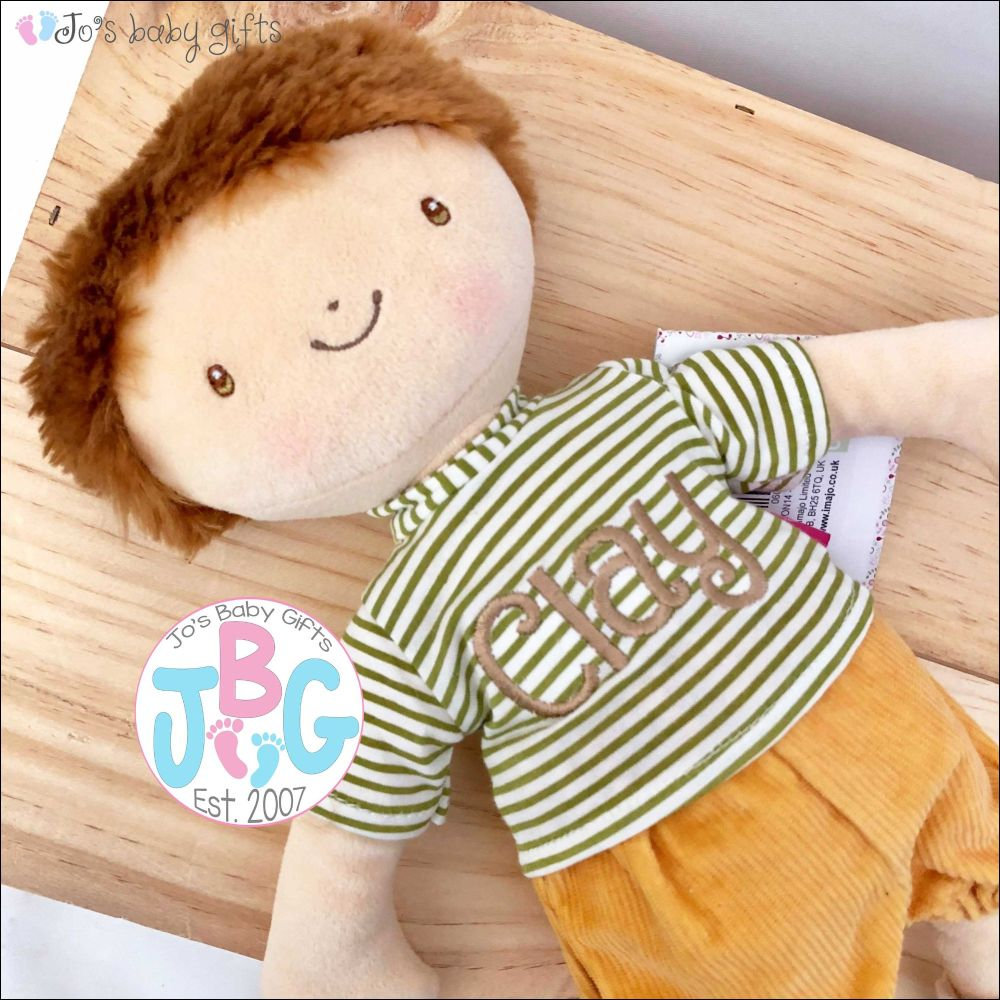 Personalised Boys Rag Doll - Jack