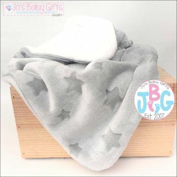 Grey star luxury blanket