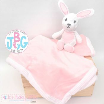Personalised soft baby blanket with bunny toy