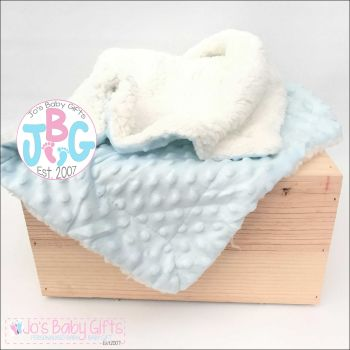 Personalised Sky Deluxe Bubble Wrap/Cream Sherpa back