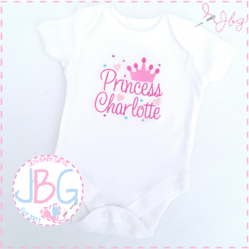 Personalised Princess Crown Vest