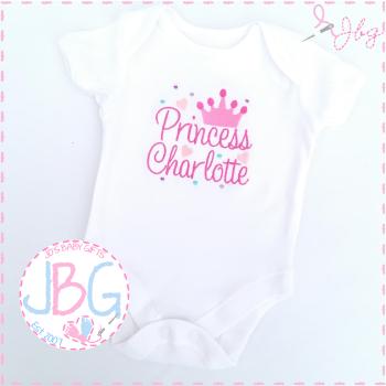 Personalised Princess Crown Vest