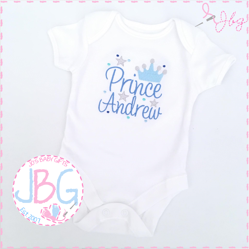 Personalised Prince Crown Vest