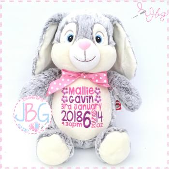 NEW Grey Clovis Brampton Cubby Bunny