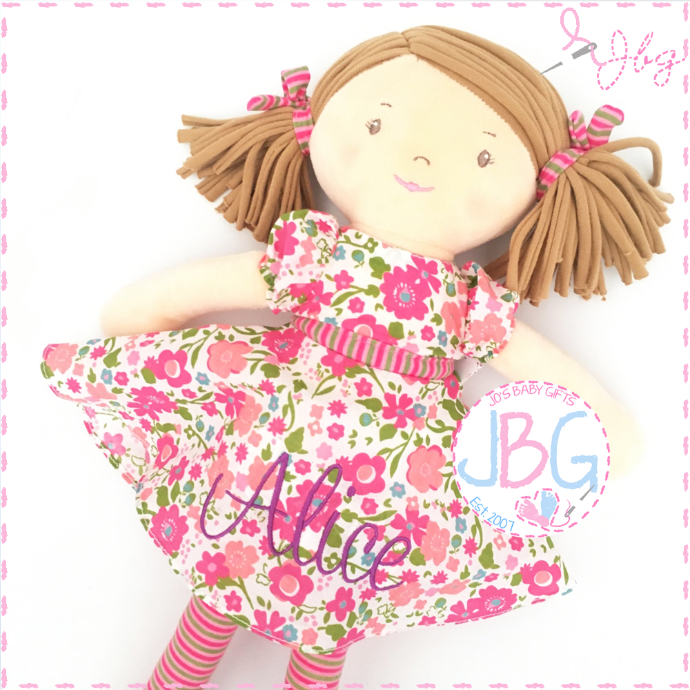 Personalised Rag Doll - Katy