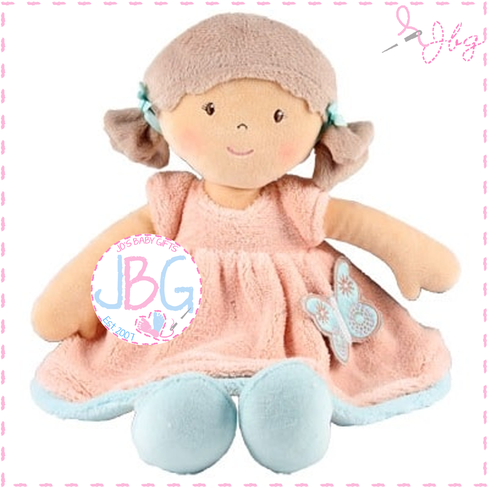 Personalised Rag Doll- butterfly peach