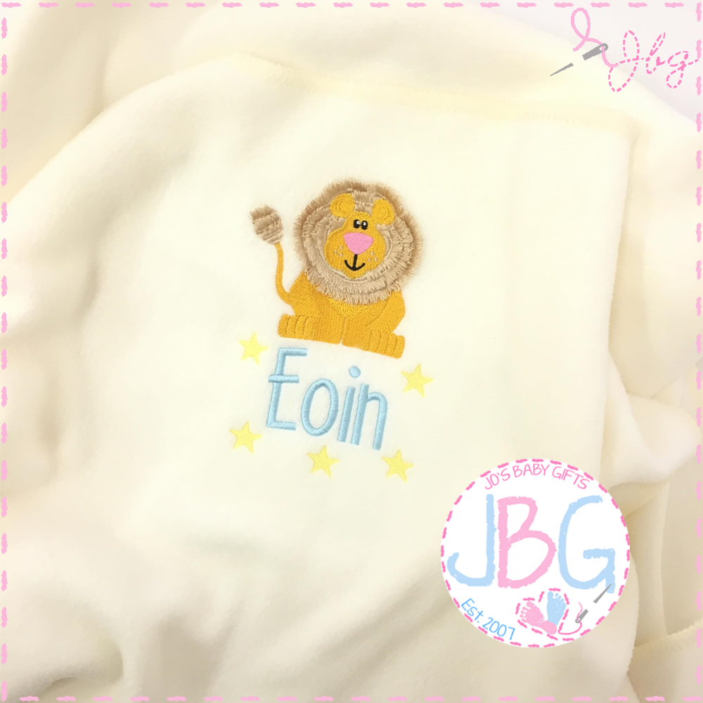 Personalised Baby Lion Blanket