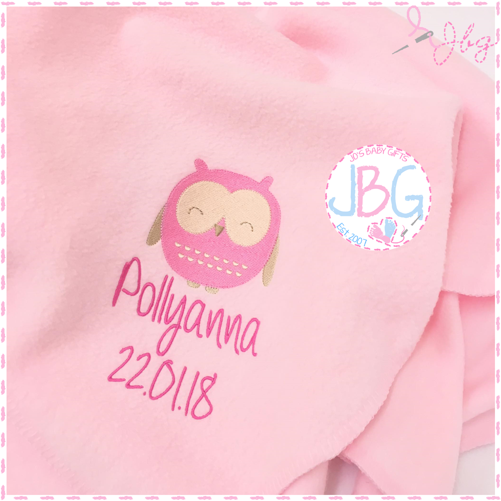 Personalised Baby Owl Blanket