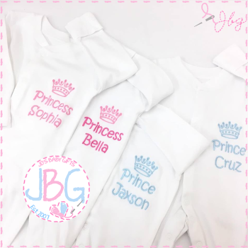 Personalised Crown Sleepsuit