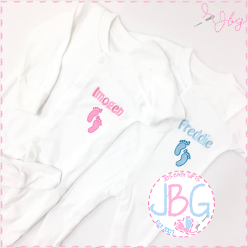 Personalised Footprint Sleepsuit