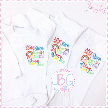 After The Storm - Rainbow Baby sleepsuit
