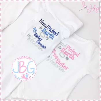 Hand picked Personalised Sleepsuit