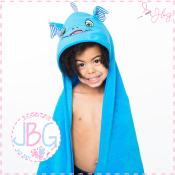 Scorch the Dragon Cubbies Hooded Towel