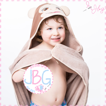 Bugaloo the Monkey Cubbies Hooded Towel