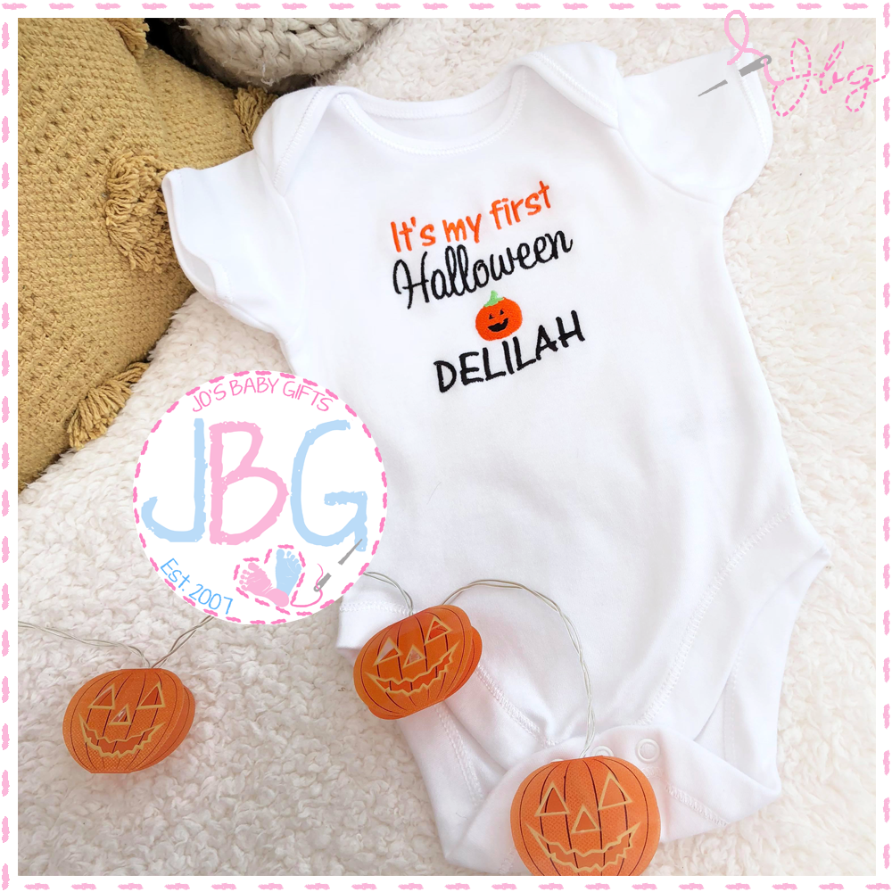 'First Halloween' Personalised Vest