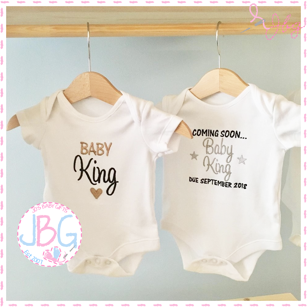 2 Personalised Baby vests