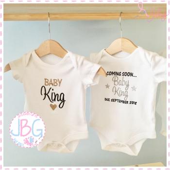 Personalised Baby vests - 2 Pack