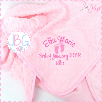 Bubble Pink Personalised Blanket