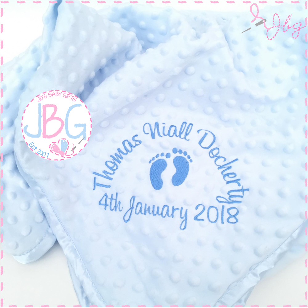Blue Bubble Personalised Blanket