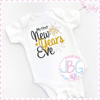 1st Christmas Eve Baby Vest
