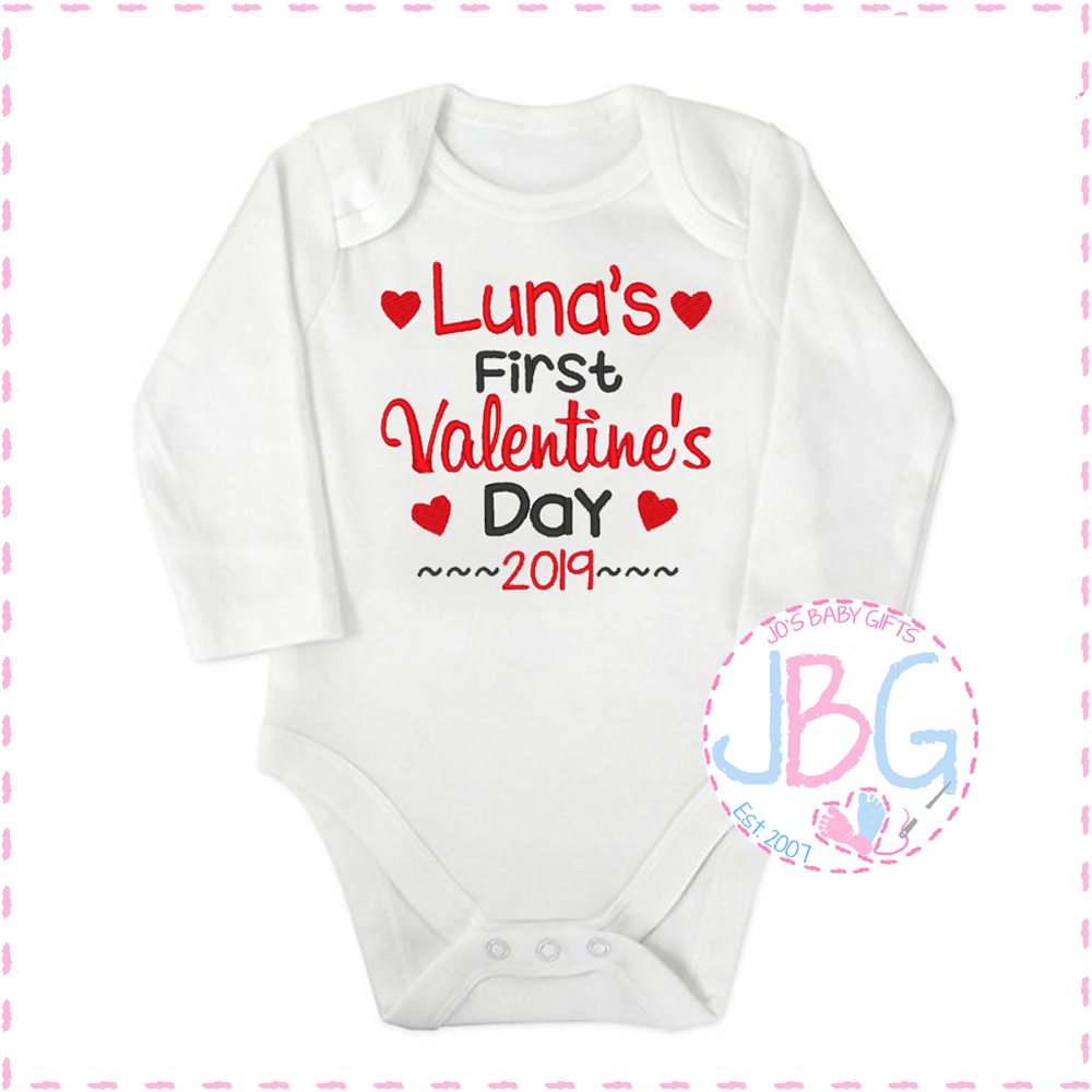Personalised Baby Valentines Vest