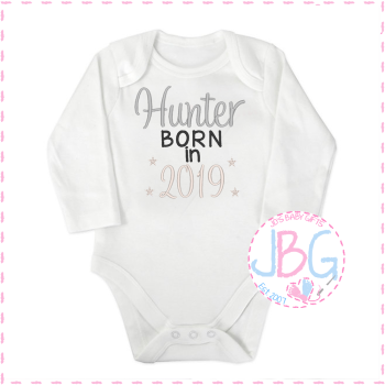 Personalised Baby Unisex '2019' Long Sleeve Vest
