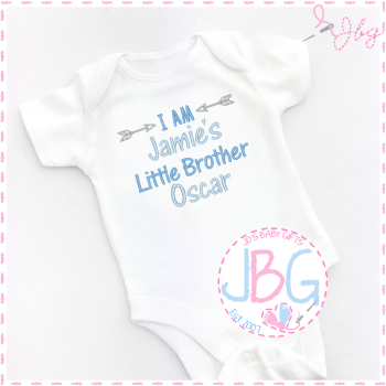 Personalised Baby 'Little Brother' Vest