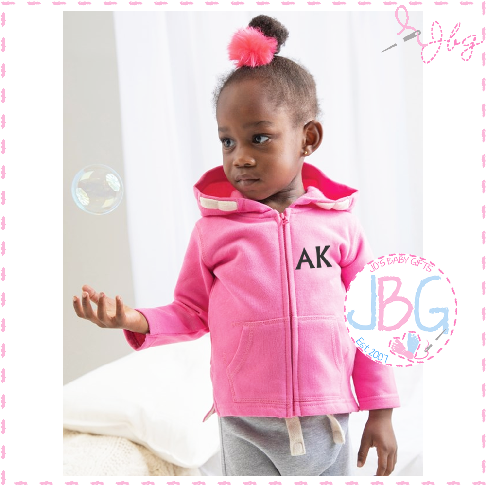 Personalised Pink Baby Baby Hoodie