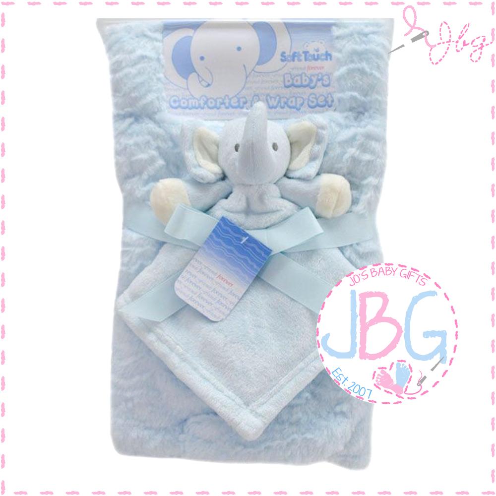Luxury personalised blanket & comforter set in Blue